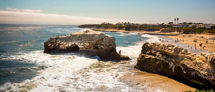 Natural Bridges beach in Santa Cruz