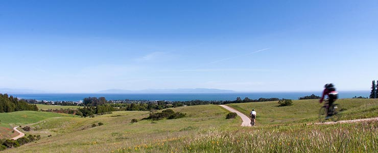 View of Monterey Bay from the UCSC bike path